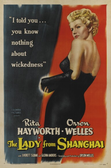 LADY FROM SHANGHAI (1948) POSTER, US