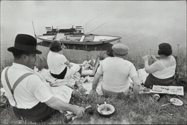 View 1. Thumbnail of Lot 33. HENRI CARTIER-BRESSON | ON THE BANKS OF THE MARNE.
