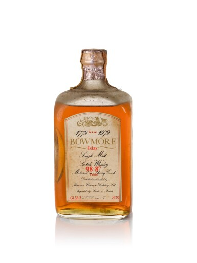 View 1. Thumbnail of Lot 39. Bowmore Bicentenary 1779 to 1979 Fecchio and Frassa 56.2 abv NV.