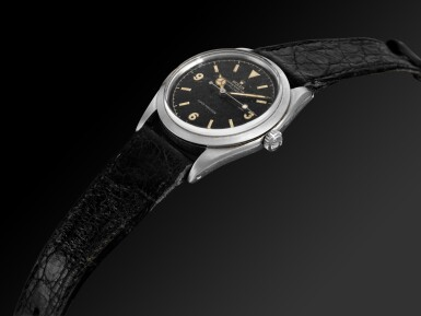 View 6. Thumbnail of Lot 456. ROLEX | EXPLORER, REF 5504  STAINLESS STEEL WRISTWATCH  CIRCA 1960.