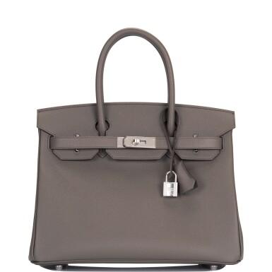 Hermès Etain Epsom Birkin 30cm Palladium Hardware