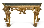 AN ITALIAN CARVED GILTWOOD CONSOLE TABLE, GENOESE, CIRCA 1730/40