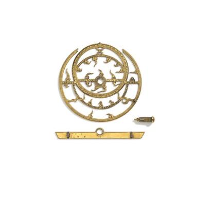 View 6. Thumbnail of Lot 67. A fine Safavid gilt-brass astrolabe made for Imam Mirza Razi al-Din Muhammad Husayni al-Mawsawi (d.1701), signed by Muhammad Husayn ibn Muhammad Baqir al-Yazdi, decorated by Muhammad Mahdi al-Yazdi, Persia, circa 1660.