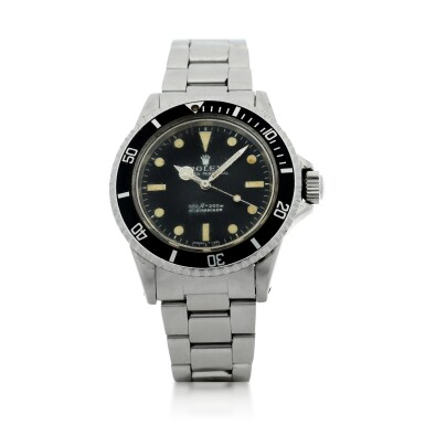 View 1. Thumbnail of Lot 105. ROLEX | REFERENCE 5513 SUBMARINER A STAINLESS STEEL AUTOMATIC WRISTWATCH WITH BRACELET, CIRCA 1970.