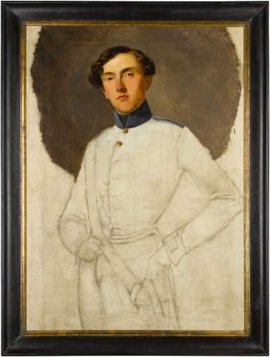 View 3. Thumbnail of Lot 40. LOMBARD SCHOOL, 19TH CENTURY  |  PORTRAIT OF AN AUSTRIAN OFFICER, THREE-QUARTER LENGTH, UNFINISHED.