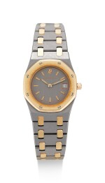 AUDEMARS PIGUET | ROYAL OAK, REFERENCE 66270TR, A PINK GOLD AND TANTALUM BRACELET WATCH WITH DATE, CIRCA 2000