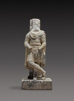 A Roman Pavonazzetto Marble Trapezophoros in the Form of a Barbarian, circa 2nd Century A.D.