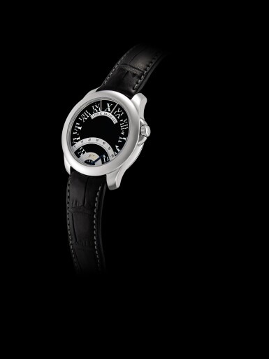 View 4. Thumbnail of Lot 2202. Ludovic Ballouard   Half Time, A brand new platinum jumping hour wristwatch with retrograde minutes, Circa 2012   Half Time 全新鉑金跳時腕錶,備逆跳分鐘,約2012年製.