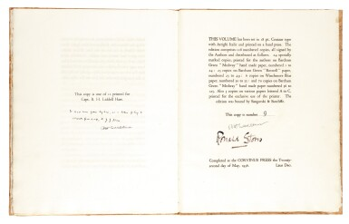 View 1. Thumbnail of Lot 120. [LAWRENCE, T.E.]--HART and STORRS   Lawrence of Arabia, 1936, no. 9/12 copies.