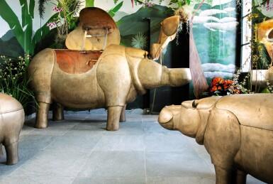 View 4. Thumbnail of Lot 115. FRANÇOIS-XAVIER LALANNE | UNIQUE FAMILLE HIPPOPOTAMES  [FAMILLE HIPPOPOTAMES, PIÈCE UNIQUE].