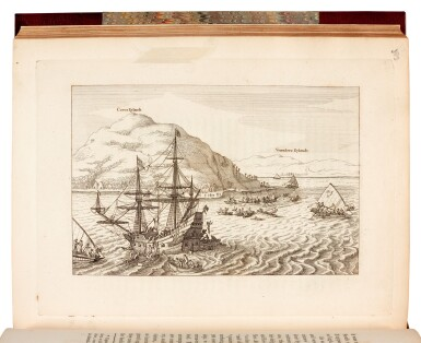 View 2. Thumbnail of Lot 74. James Burney| A Chronological History of the Discoveries in the South Sea or Pacific Ocean. 1803-1817. 5 volumes.