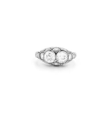 View 1. Thumbnail of Lot 14. Bague diamants | Diamond ring.