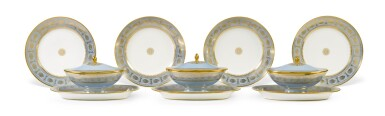 View 4. Thumbnail of Lot 82. A SÈVRES FOND AGATE COMPOSITE PART DESSERT SERVICE, VARIOUS DATES, PREDOMINANTLY 1833-1859.