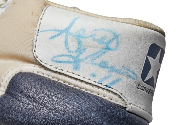 View 10. Thumbnail of Lot 804. Converse Isiah Thomas Game Worn Dual Signed All-Star Fastbreak.