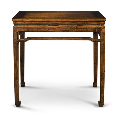 View 2. Thumbnail of Lot 148. A 'huanghuali' and mixed-hardwood square games table, Late Qing dynasty / early 20th century.