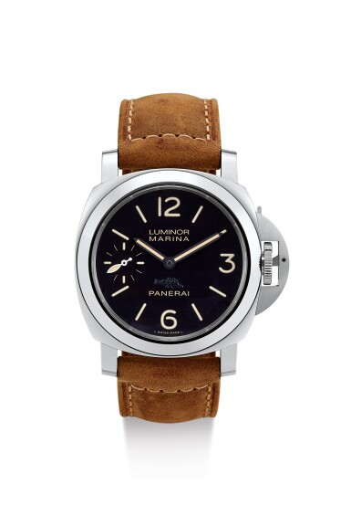 PANERAI | LUMINOR MARINA LUCERENE, REFERENCE PAM00542, A LIMITED EDITION STAINLESS STEEL WRISTWATCH WITH FINELY ENGRAVED CASE BACK, CIRCA 2014