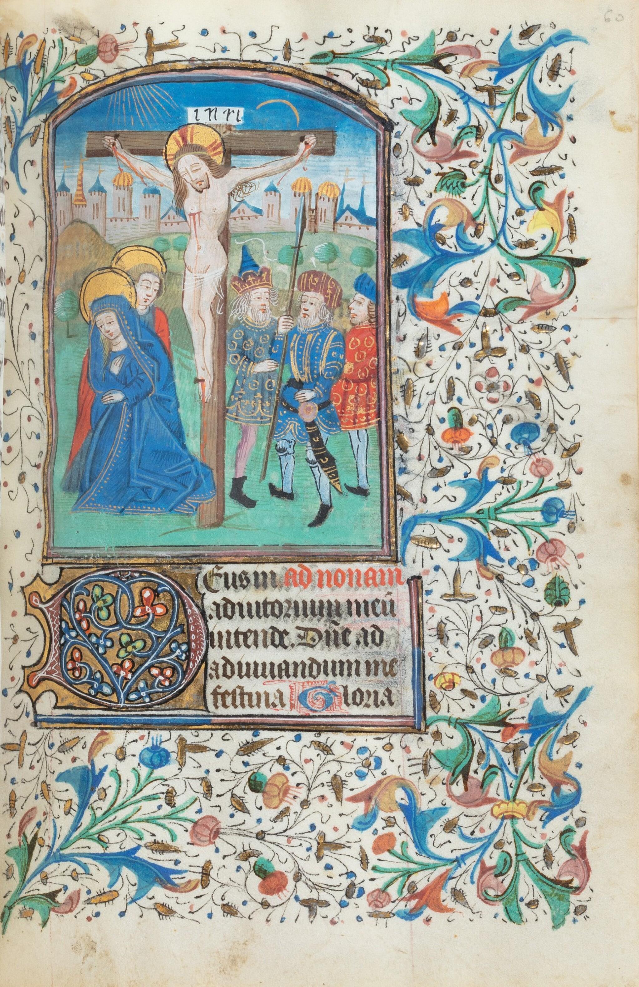 View full screen - View 1 of Lot 23. Livre d'heures (usage de Rome). Heures dites de Fyot de Mimeure. [Belgique, Bruges, vers 1460].