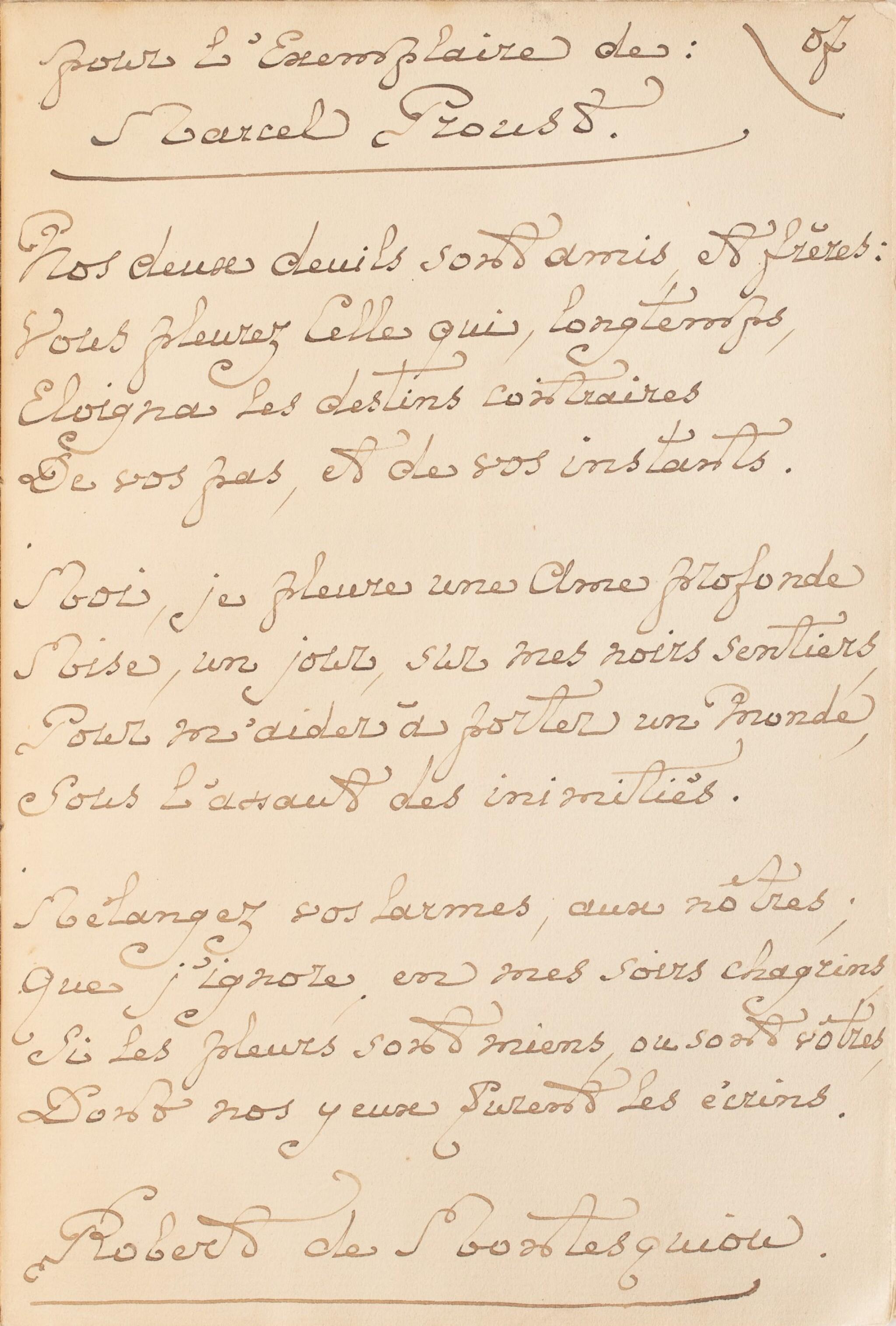 View full screen - View 1 of Lot 78. MONTESQUIOU, Robert de. Les Hortensias bleus. 1906. Ex. de Marcel Proust, avec un bel envoi. Prov Guérin..