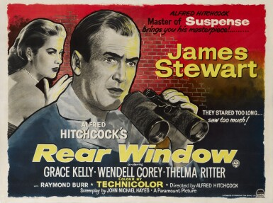 REAR WINDOW (1954) POSTER, BRITISH
