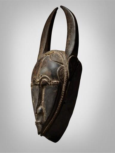 View 3. Thumbnail of Lot 45. Baule Mask, Côte d'Ivoire.