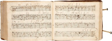 View 7. Thumbnail of Lot 64. Lute. Highly important early seventeenth-century manuscript of Italian and French lute music in French tablature, c.1620.