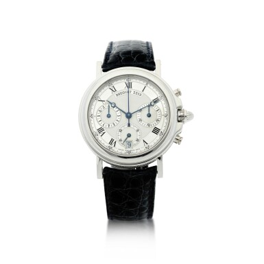 View 1. Thumbnail of Lot 13. REFERENCE 3315N MARINE A PLATINUM AUTOMATIC CHRONOGRAPH WRISTWATCH WITH DATE, CIRCA 2000.