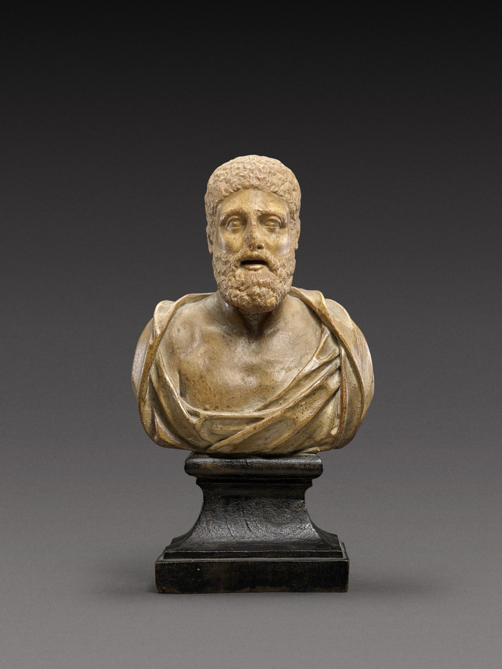View 1 of Lot 94. A Roman Marble Head of a Man, circa 2nd Century A.D., on later shoulders.