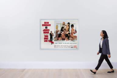 View 2. Thumbnail of Lot 73. YOU ONLY LIVE TWICE (1967) POSTER, US, SUBWAY STYLE C (BATHTUB).