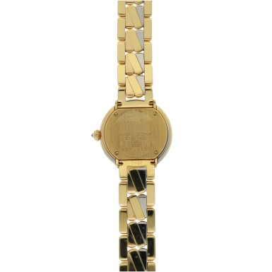 View 3. Thumbnail of Lot 42. CARTIER | REF 2357 TRINITY, A TRI-COLOR GOLD AND DIAMOND SET BRACELET WATCH CIRCA 2015.