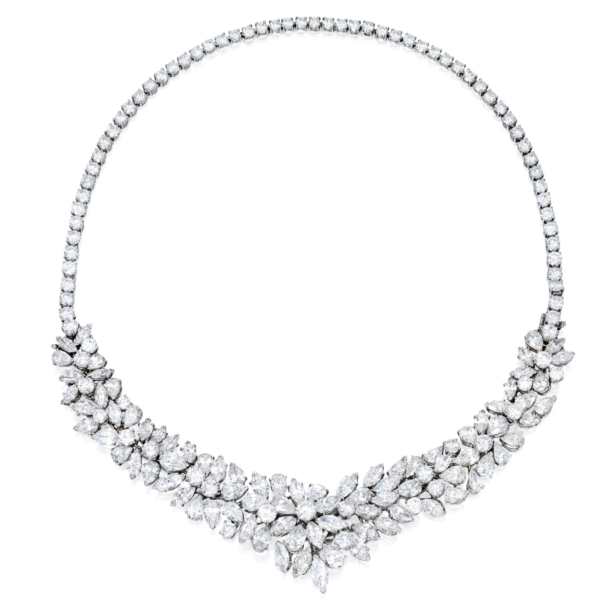 View full screen - View 1 of Lot 37. Van Cleef & Arpels   Diamond Necklace-Bracelet Combination.