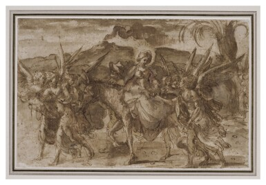 View 2. Thumbnail of Lot 218. The Flight into Egypt.
