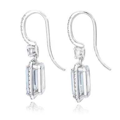 View 2. Thumbnail of Lot 8. Pair of Diamond Earrings.