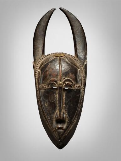 View 1. Thumbnail of Lot 45. Baule Mask, Côte d'Ivoire.
