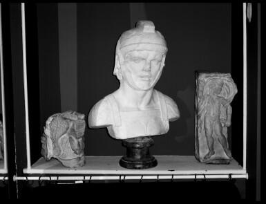 View 5. Thumbnail of Lot 87. A Roman Marble Season Sarcophagus Fragment, 3rd Century A.D..