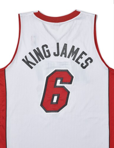 "View 5. Thumbnail of Lot 1. LeBron James ""King James"" Game Worn 2013-2014 Season Jersey."