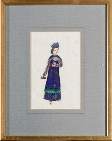 View 10. Thumbnail of Lot 163. A set of fourteen Chinese paintings on silk, Canton, 19th century.