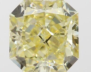 A 1.02 Carat Fancy Yellow Cut-Cornered Square Modified Brilliant-Cut Diamond