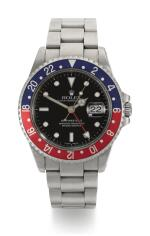 ROLEX | GMT-MASTER II, REFERENCE 16710  STAINLESS STEEL DUAL-TIME WRISTWATCH WITH DATE AND BRACELET, CIRCA 2002