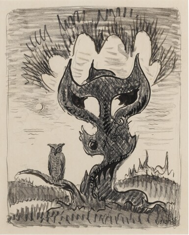 View 1. Thumbnail of Lot 101. The Tree of the Owl.