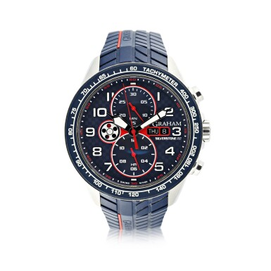 View 1. Thumbnail of Lot 230. SILVERSTONE RS A STAINLESS STEEL AUTOMATIC CHRONOGRAPH WRISTWATCH WITH DAY AND DATE, CIRCA 2015.