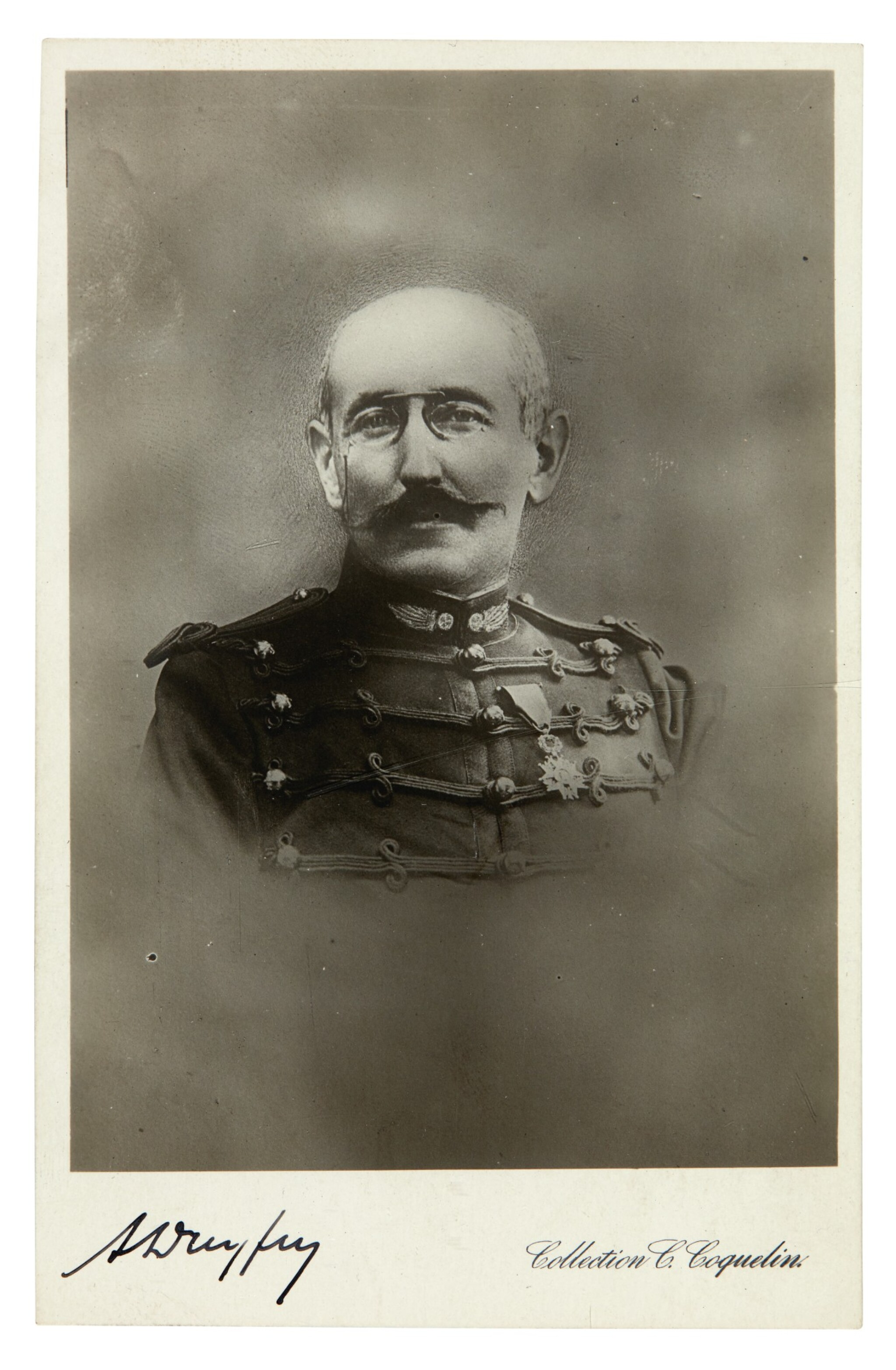 View full screen - View 1 of Lot 36. DREYFUS | signed photograph, n.d..