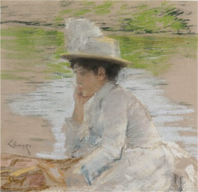 View 1. Thumbnail of Lot 52. Untitled (Portrait of Mrs. Chase).