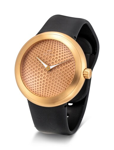 View 2. Thumbnail of Lot 8034. IKEPOD | HORIZON, REFERENCE HHR70 | A PINK GOLD WRISTWATCH, DESIGNED BY MARC NEWSON, CIRCA 2013  | Horizon 型號HHR70 粉紅金腕錶,由Marc Newson設計,約2013年製.