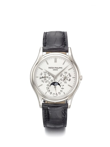 PATEK PHILIPPE   REF 5140G, A WHITE GOLD PERPETUAL CALENDAR WRISTWATCH WITH MOON PHASES LEAP YEAR AND DAY/NIGHT INDICATION MADE IN 2007