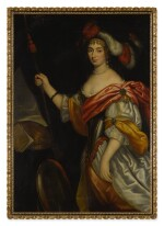 FOLLOWER OF JAN MIJTENS | PORTRAIT OF A LADY AS MINERVA, THREE-QUARTER LENGTH