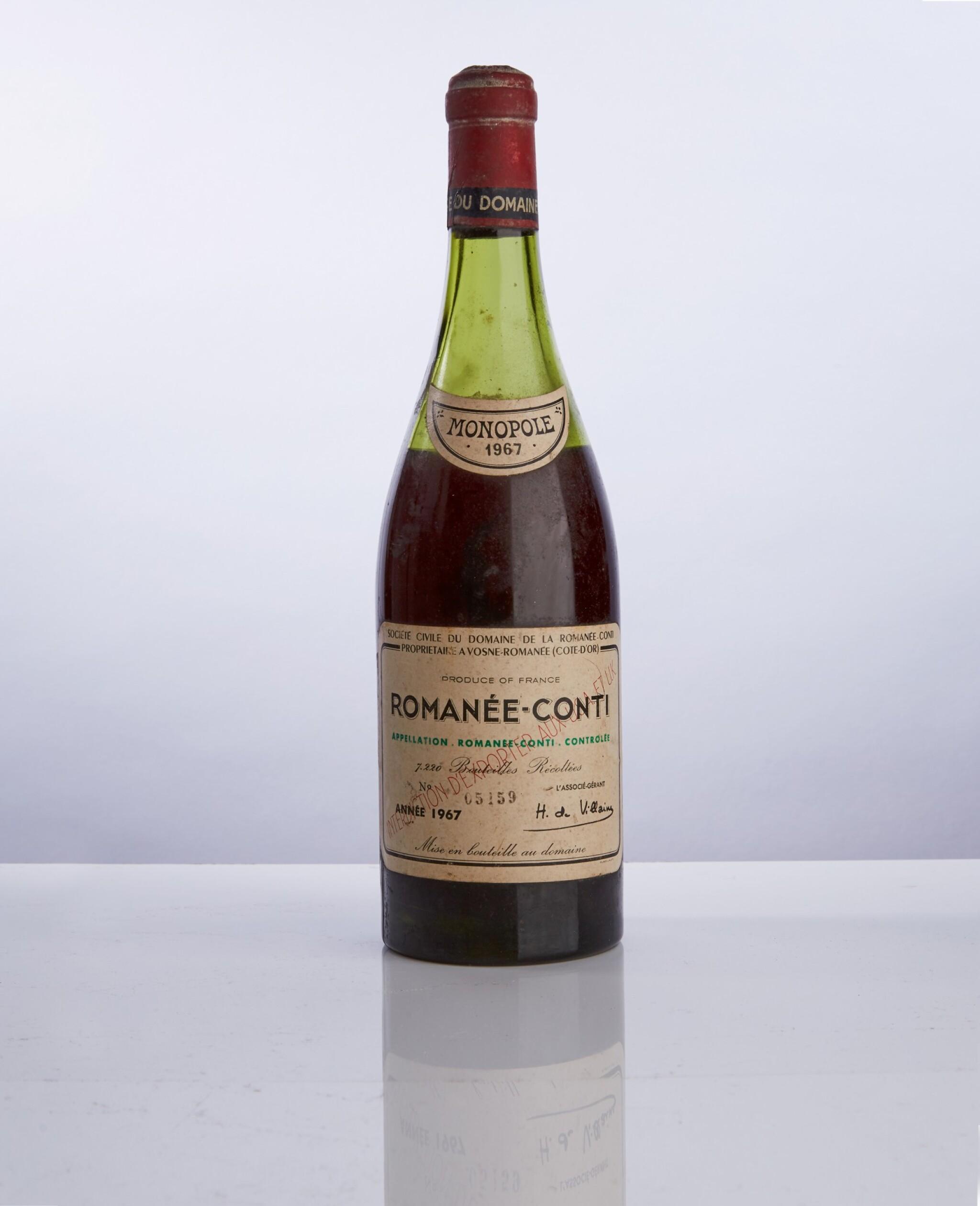 View full screen - View 1 of Lot 8. Romanée Conti 1967 Domaine de la Romanée-Conti (1 BT).