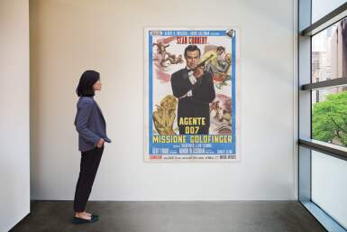 View 2. Thumbnail of Lot 46. GOLDFINGER / AGENTE 007, MISSIONE GOLDFINGER (1964) POSTER, ITALIAN  .