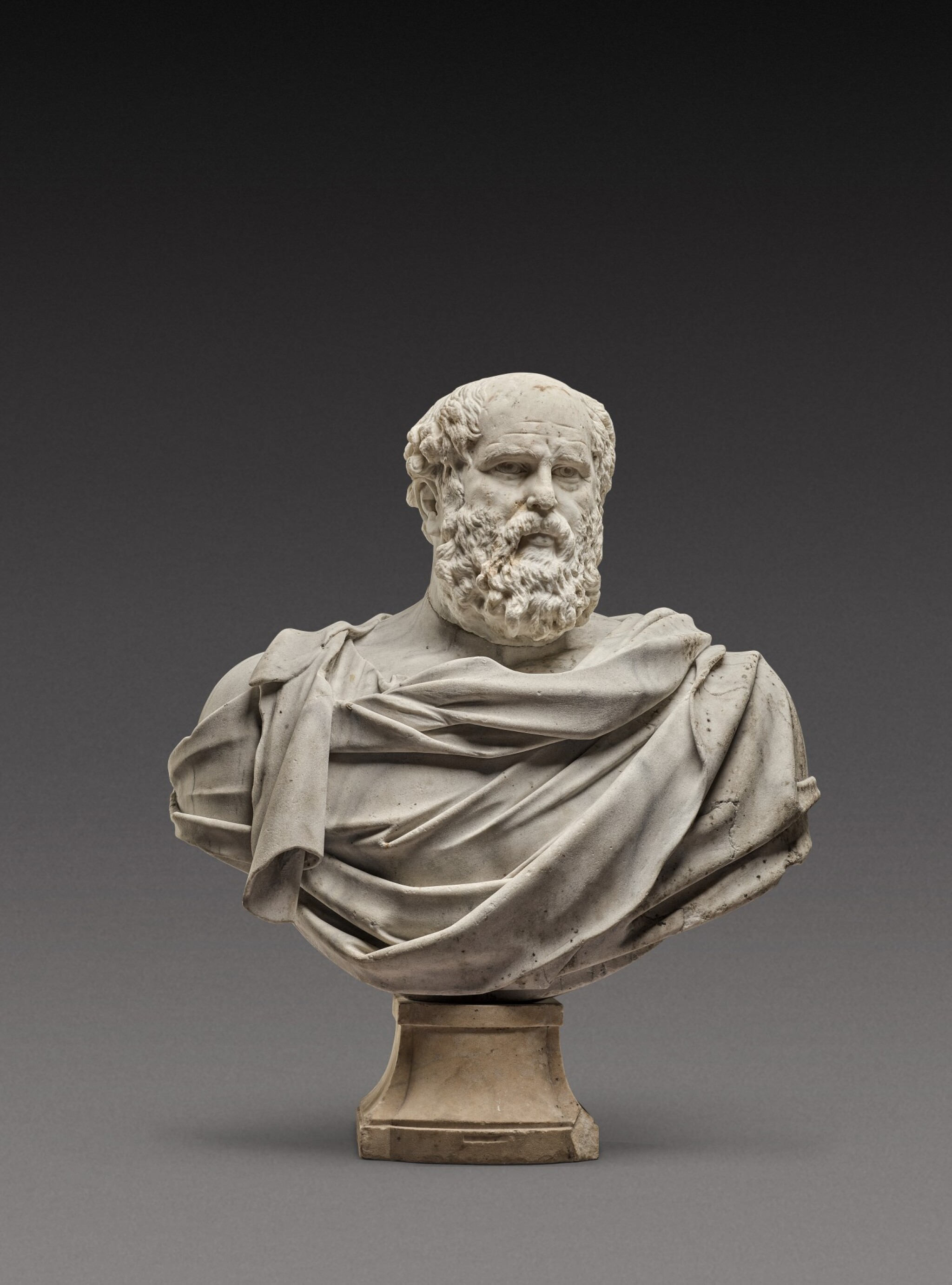 View 1 of Lot 121. Italian, 17th century | Monumental Bust of a Philosopher.
