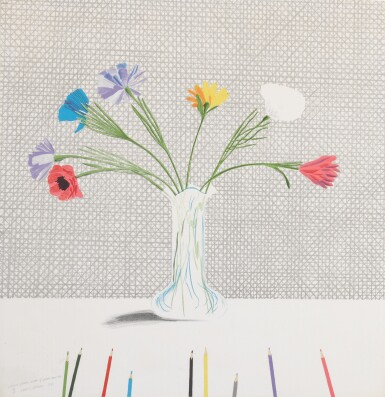 View 1. Thumbnail of Lot 76. Colored Flowers Made of Paper and Ink (Scottish Arts Council 119; Museum of Contemporary Art, Tokyo 113).