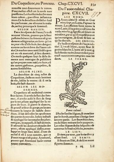View 1. Thumbnail of Lot 11. Fuchs | L'Histoire Des Plantes mis en commentaires, 1550.